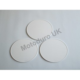 Race Plate Ovals injection Molded (White)