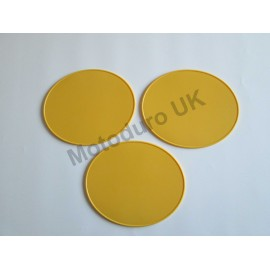 Race Plate Ovals Injection Molded (Yellow) Set x3