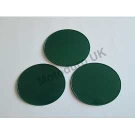 Race Plate Ovals Injection Molded Plastic (Dark Green) Set x3