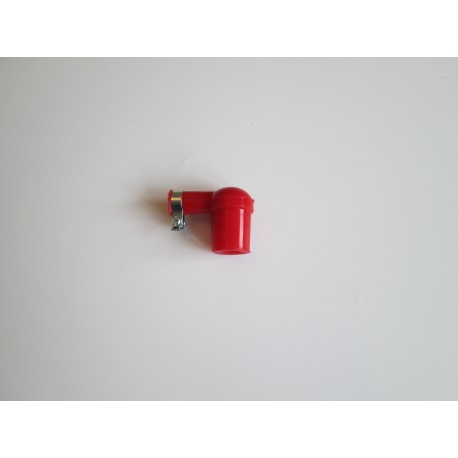Rubber Spark Plug Cap (Red)