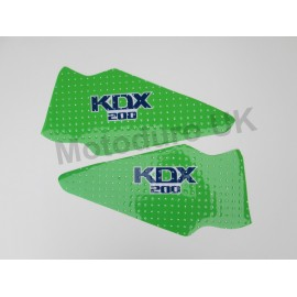 Kawasaki KDX200C3 1988 Perforated Pre-Cut Tank Decals (will also fit 1986/87 models)