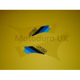 Side Panel Decals Suzuki RM465Z 1982