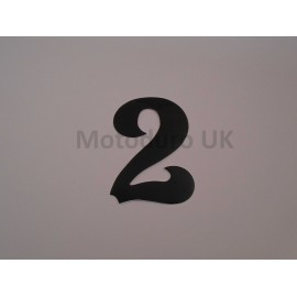 Vintage Race Plate Number 2 Retro - Black