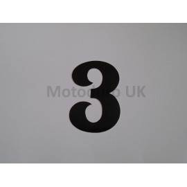 Vintage Race Plate Number 3 Retro - Black