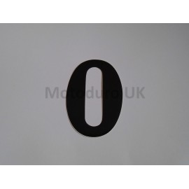 Vintage Race Plate Number 0 Retro - Black