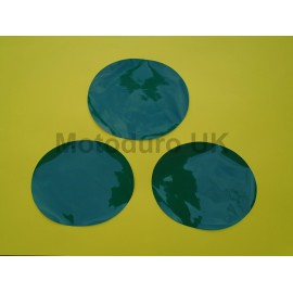Race Plate Ovals (Dark Green Thick Cut) Suzuki RM125/250/370/400 1977-80