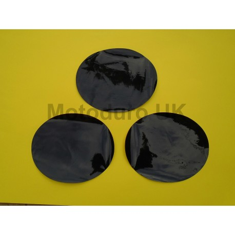 Race Plate Ovals (Black Thick Cut) Suzuki RM250/370/400 1976-78.5