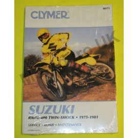 Clymer Work Shop Manual Suzuki RM50-400 1975-1981