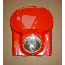 Enduro Headlight Surrounds in red, yellow and white
