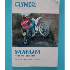 Yamaha IT Manual Clymer - IT 125 / 490 1976-86 - OUT OF STOCK